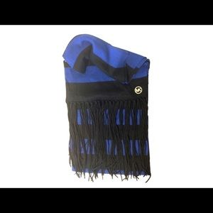 Michael Kors Navy & Cobalt Striped Scarf ( O/S )
